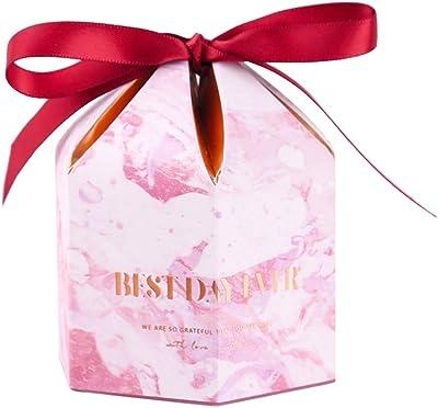 MASSJOY 30pcs Pink Marble Striped Sweet Gift Box European Style Creative Candy Box.