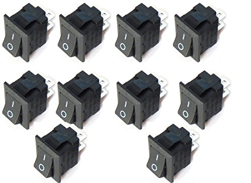 10x Car Truck Boat Round Rocker 2 Pin ON Off Toggle SPST Switch 125V 6A