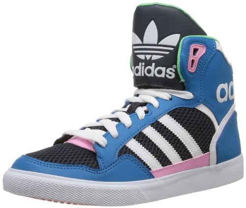adidas Originals EXTABALL W D65392 Damen Sneaker Blau (DARK SOLAR BLUE S14 / RUNNING WHITE FTW / ST TROPIC BLOOM S1) 38