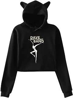 Women's Cat Ear Hoodie Sweater Dave Matthews Band Hoodie Gray