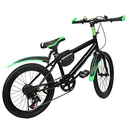 20 Zoll Doppelscheibenbremse Mountainbike Hartstahl Fahrräder Grün für Jungen Mädchen Damen und Herren