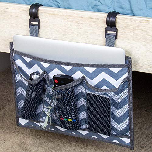Bedside Caddy - Premium Bed Side Hanging Organizer with Pockets - Large