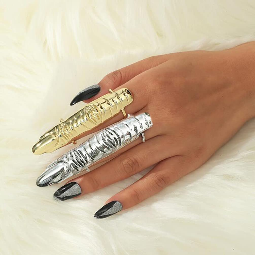 Metal Full Finger Ring Philadelphia Mall Outlet sale feature Joint Armor Silver Gold and L