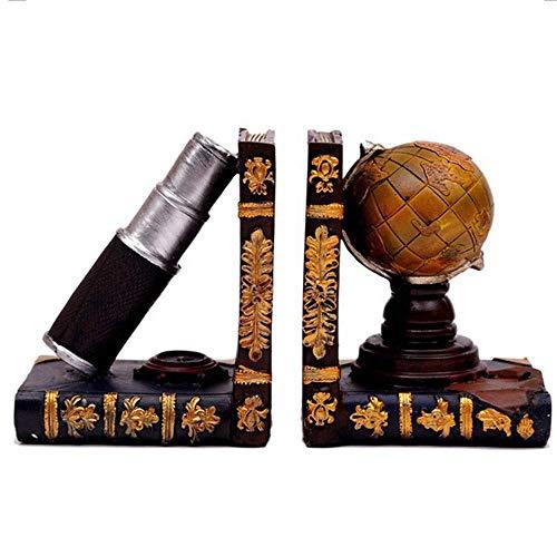 XLL Buchstütze Vintage Globe Modell Kunst Buchstütze Tischdekoration für Bibliothek, Büro, Zuhause, Büro, Bibliothek, Dekoration (Farbe: Globus, Größe: 13 x 9 x 15 cm), Globus, 13x9x15cm
