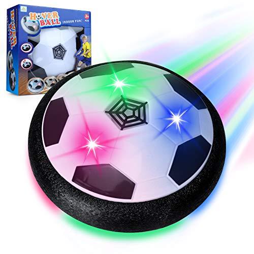 Sinwind Air Power Fußball Kinderspielzeug, Kinderspielzeug Fußball Hover Power Ball Air Fussball mit LED-Licht Geschenke für Junge Mädchen Indoor Outdoor Spiele (Batteriemodelle)