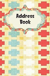 Address Book: Cute Pattern Design - Address Telephone Book Alphabetical Organizer with A-Z Index
