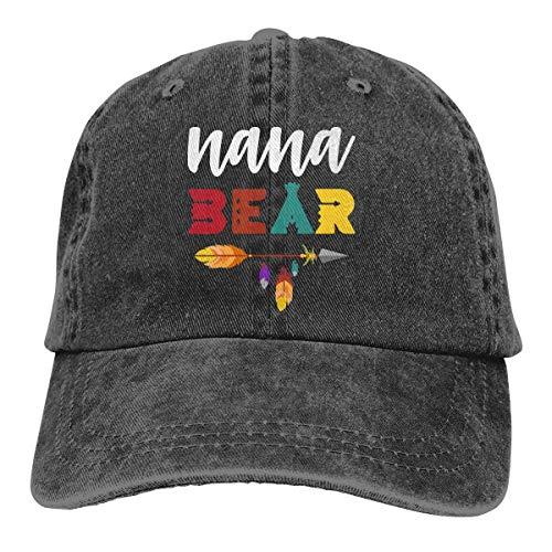 ONGH Männer Frauen gewaschen Denim Stoff Baseball Cap Nana Bär Tribal Arrow Golf Hüte