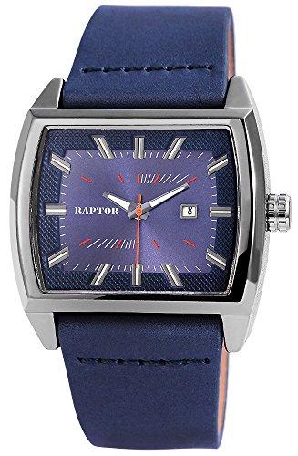 Raptor Herren-Uhr Oberseite Echtleder Datumsanzeige Analog Quarz RA20128