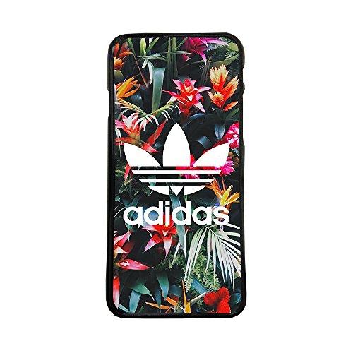 Funda Carcasa de móvil para Apple iPhone 5 5s Logotipo Adidas Logo Flores TPU Borde Negro