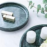 ReedG Stilvolles Display-Tablett Marmor-Bad-Badezimmer Vanity Tray for Schmuck, Parfüm, Make-up, kosmetische Speicher Hausgeschenke (Color : Green, Size : 30x30cm)