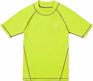 HMILES Boys Rash Guards Kids UPF Surf Tshirt Children Quickdrying Swim Tee Youth Breathable Rash Vest Raglan Sleeve Water ...