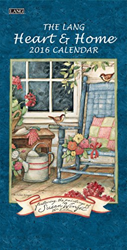 Lang Heart and Home 2016 Vertical Wall Calendar by Susan Winget, January 2016 to December 2016, 7.75 x 15.5 Inches (1079118)