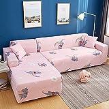 Funda de sofá elástica, Utilizada para la decoración de la Sala de Estar, Funda de sofá de impresión, Suave, Universal, Funda elástica de sección Transversal A11 de 4 plazas