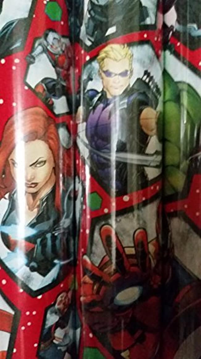 The Avengers Christmas Gift Wrap Paper 2 Assorted Rolls