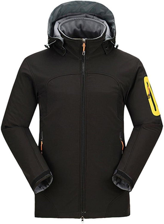 ZHEN Men's Soft Shel Venture Jacket Windproof Waterproof Jacket