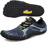 SAGUARO Hombre Mujer Zapatillas de Training Yoga Entrenamiento Gym Interior Transpirables Zapatos Correr Barefoot Resistentes Comodas Zapatos Gimnasio Asfalto Playa Agua Exterior(Azul, 43 EU)