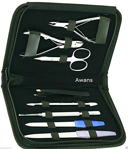 Awans, set in acciaio inox per manicure e pedicure professionale