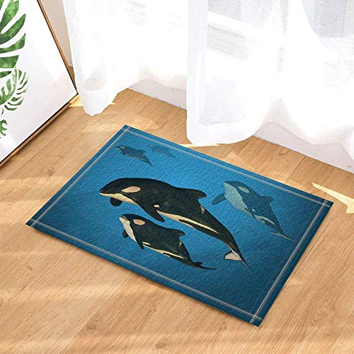 SHUHUI Shark Seabed Play impresión Antideslizante Alfombra de Ducha Alfombra Alfombra Alfombra de baño