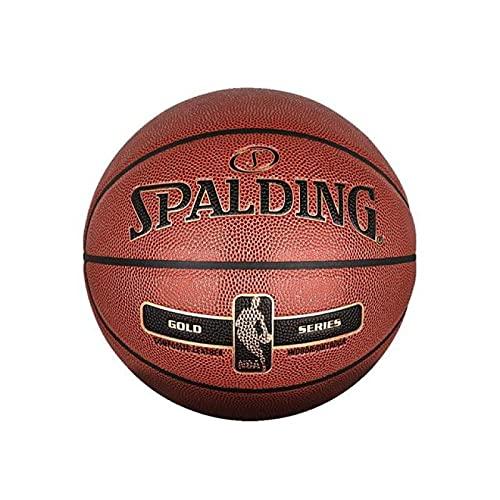 Pelota de Baloncesto Spalding Golden Classic Superficie Rugosa De Los Hombres Partido De Baloncesto Interior Exterior Tamaño General 7 Material De PU