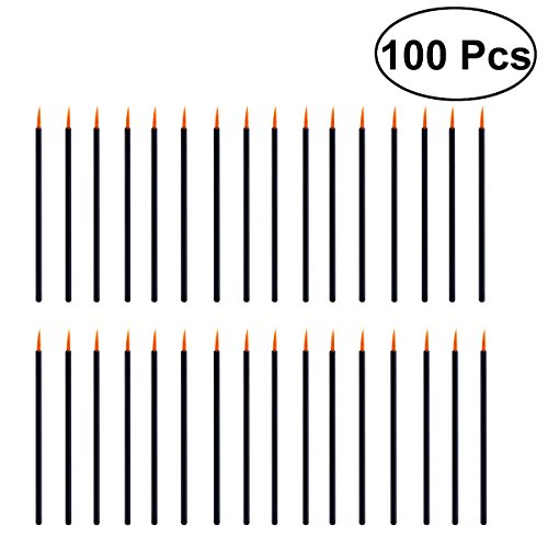 Frcolor Lot de 100 pinceaux applicateurs pour eyeliner jetables de maquillage professionnel.