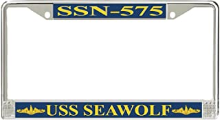 MR3Graphics USS Seawolf SSN-575 Officer License Frame - American Made - Veteran Approved!