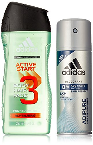 Adidas Adipure Deo + Active Start Shower Gel, 400 ml