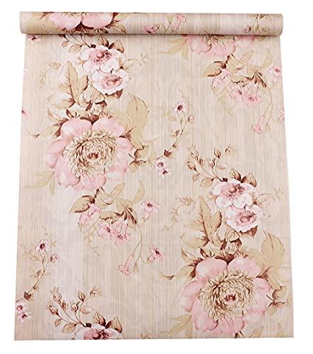 Papel Pintado Pared Flores Rosa Marca GLOW4U