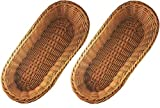 KOVOT Poly-Wicker Bread Basket Set of 2 - 14.5