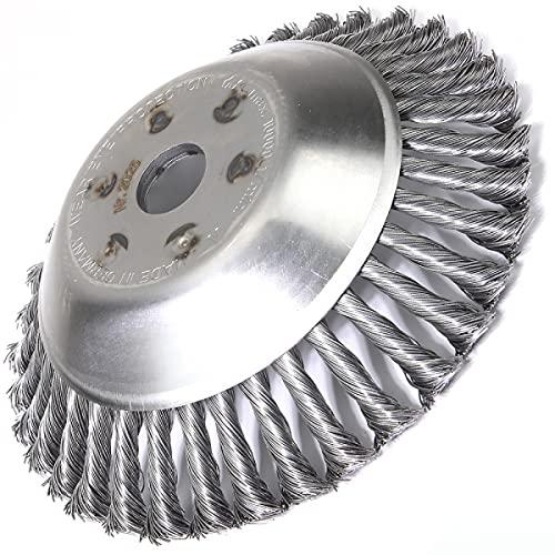 Tête brosse désherbage pour débroussailleuse. Universelle. Ø 230 mm. Al 25,4 mm - Pièce neuve
