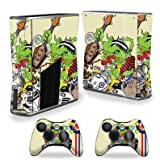 MightySkins Skin Compatible with Xbox 360 S Slim + 2 Controllers Case wrap Cover Sticker Skins Scooter Punk