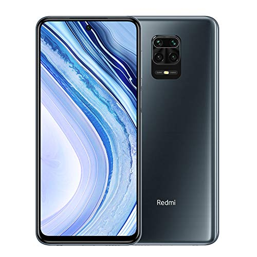"Xiaomi Redmi Note 9 Pro 128GB + 6GB RAM, 6.67"" FHD+ DotDisplay, 64MP AI Quad Camera, Qualcomm Snapdragon 720G LTE Factory Unlocked Smartphone - International Version (Interstellar Grey)"