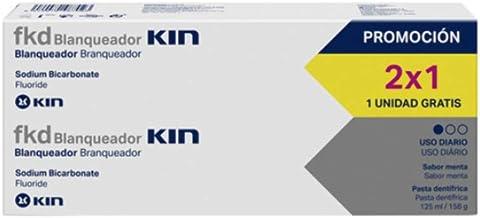 KIN fkd Pasta de Dientes Blanqueadora Pack 2x1 | Pasta Dentífrica Sabor Menta - 125 ml x 2: Amazon.es: Salud y cuidado personal
