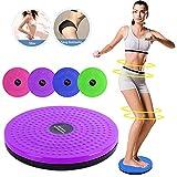 YMFZYM Disque de Torsion de Taille, Planche rotative pour exerciseur de Disque d'exercice aérobie, Exercice de Taille ajusté et Massage des Pieds,Violet
