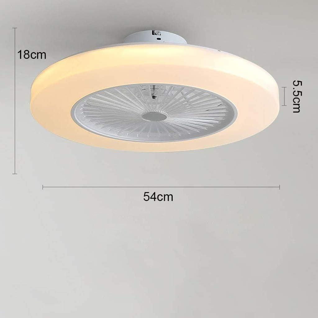 Color : White Fan Ceiling Fan LED Light 36W Modern LED Ceiling Light Adjustable Wind Speed Dimmable Remote Control LIUTIAN-Chandeliers Illuminated Ceiling Fan