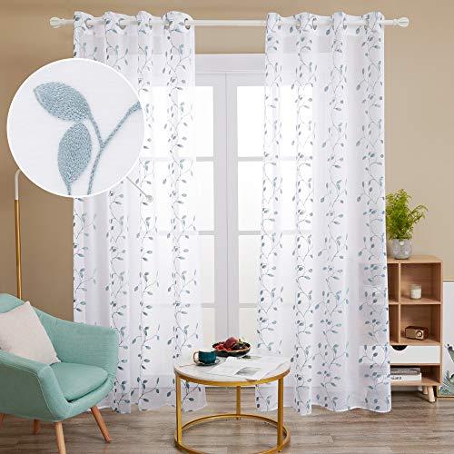 cortinas habitacion blancas y verde