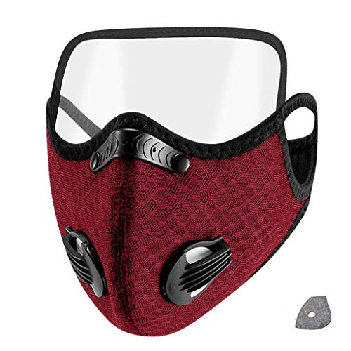 1PC+1Filter Adult Breathable Mouth Mask with 1 Filter Unisex Protection Mask with Eyes Shield