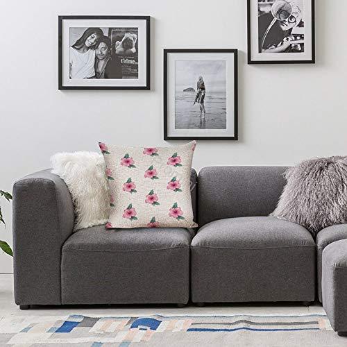 Promini decoratieve kussensloop VI-315 retro katoen linnen kussensloop voor thuis bank bed kamer bar café huis 40,6 x 40,6 cm