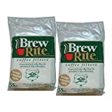 Brew Rite Wrap Around Percolator Coffee Filters 55 Count (Pack of 2)