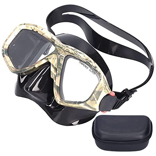 VGEBY Gafas de Buceo, Camuflaje Gafas de natación Completamente secas Antivaho Sin empañamiento Esnórquel Gafas de Buceo para niños y Adultos