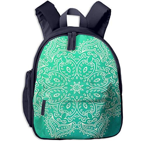Kinderrucksack Kleinkind Jungen Mädchen Kindergartentasche Henna Floral abgerundet Oriental Backpack Schultasche Rucksack