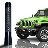 "CK FORMULA 3.1"" Black SUV Antenna - Carbon Fiber Screw Type Automotive Antenna Replacement, AM/FM Radio Compatibility, Aluminum and Internal Copper Coils, Car Wash Safe, Universal Fit, 1 Piece"