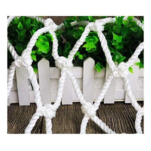 STTHOME Child Safety Net Protection Climbing Frames White safety net rope thick 6mm, stair safety net cargo net cat net garden decoration net construction net hand-woven rope net, mesh 5cm