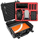 SYMIK A310-MMDL Dual Layer Waterproof Hard Carrying Case for DJI Mavic Mini (NOT for Mavic Mini 2) Drone/Fly More Combo; Fits Tablet Holder, Landing Pad & iPad; Rugged Case with Complete Protection
