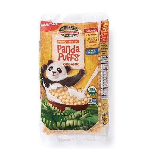 Nature's Path EnviroKidz Peanut Butter Panda Puffs Cereal, Healthy, Organic, Gluten-Free, 25 Ounce Bag (Pack of 3)