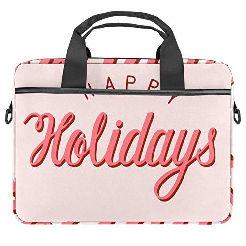 Laptop Sleeve Business Briefcase Messenger Bag with Detachable Shoulder Strap Holiday Pink