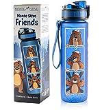 Monte Stivo ® Friends Trinkflasche für Kinder | BPA-Frei Auslaufsicher Kohlensäure geeignet | Geschenk für Schule & Freizeit