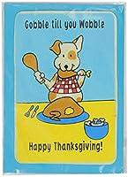 Crunchkins Edible Crunch Card, Gobble Till You Wobble Happy Thanksgiving by Crunchkins