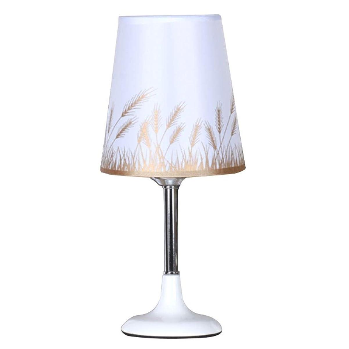 ベッドサイドテーブルランプ シンプルなクリエイティブテーブルランプの寝室のベッドサイドランプ調光対応屋内テーブルランプボタンスイッチ ベッドルーム、オフィス (Color : Wheat)