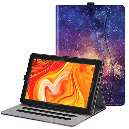 Fintie Case for Vankyo MatrixPad Z4 / Z4 Pro 10 inch Tablet - [Hands Free] Multiple Angle Viewing Folio Smart Stand Cover with Pocket, Pencil Holder for 10.1 MatrixPad Z4 / Z4 Pro (Galaxy)