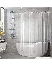 AooHome 防カビ シャワーカーテン 透明90/120/150/180/200cm防水 バスカーテン ユニットバス 浴室 間仕切り 北欧 クリア 清潔 フック付き 取り付け簡単